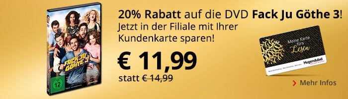 Fack Ju Göhte 3: Mit Kundenkarte in der Filiale 20% sparen