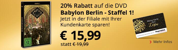 Babylon Berlin - Mit Kundenkarte in der Filiale 20% sparen