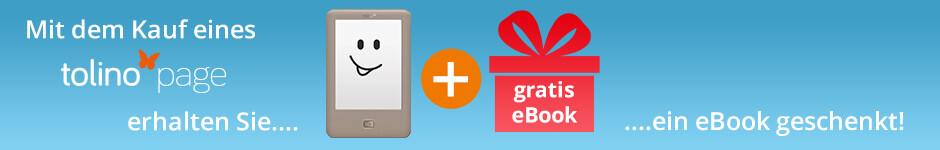 Jetzt tolino page kaufen und ein gratis eBook erhalten!
