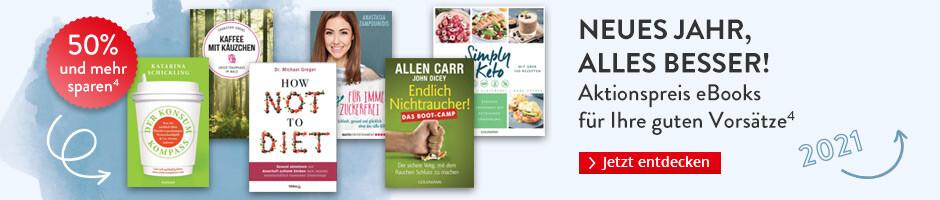 Neues Jahr, alles besser! Aktionspreis eBooks für Ihre guten Vorsätze bei Hugendubel