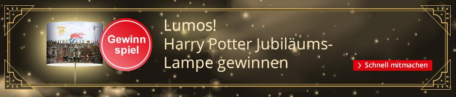 Jetzt eine exklusive Harry Potetr Jubiläumslampe gewinnen!