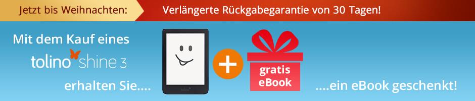Jetzt tolino shine 3 kaufen und gratis eBook erhalten