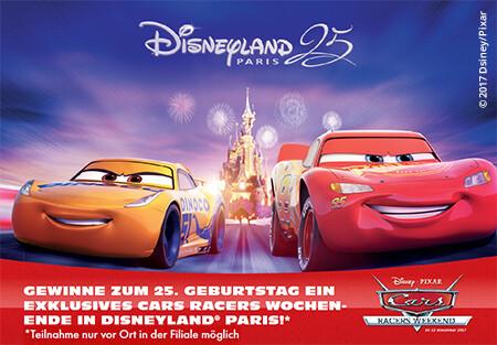 Gewinnen Sie ein exklusives Cars Racers Wochenende in Disneyland Paris