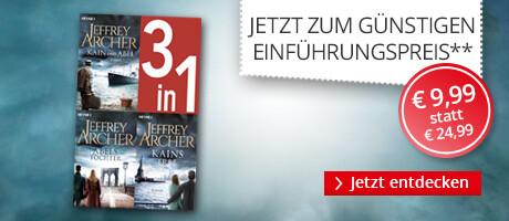 Zum Einführungspreis: Jeffrey Archer, Die Kain-Saga 1-3 bei Hugendubel