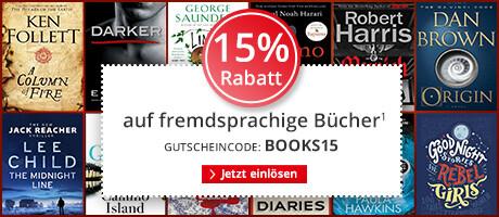 15% auf fremdsprachige Bücher
