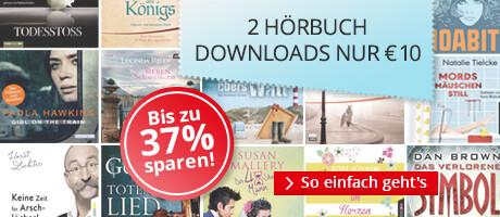 Jetzt 2 Hörbuch-Bestseller im Paket für nur 10 EUR herunterladen