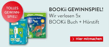 Jetzt 1 von 5 tollen BOOKii Paketen mit Buch + Hörstift gewinnen!²