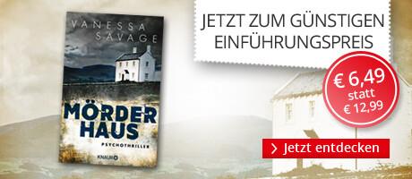 Zum Einführungspreis: Mörderhaus von Vanessa Savage bei Hugendubel