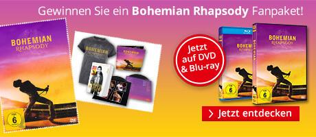 Bohemian Rhapsody - 5 coole Fanpakete gewinnen