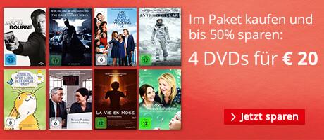 Sparen im Paket: 4 DVDs für 20 EUR