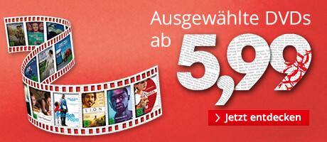 Jetzt im Angebot: DVDs ab 5,99 EUR