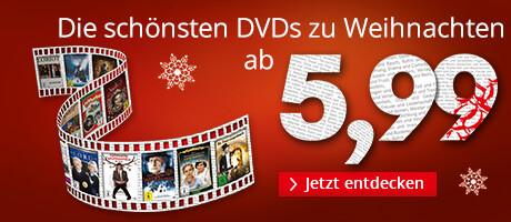 Die schönsten DVDs zu Weihnachten ab 5,99 €