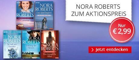 Erste Bände von Nora Roberts reduziert bei Hugendubel