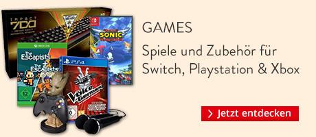Games und Zubehör für Nintendo Switch, Playstation 4 & Xbox One