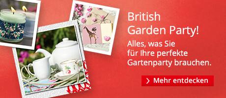British Garden Party: Alles, was Sie für eine Gartenparty brauchen