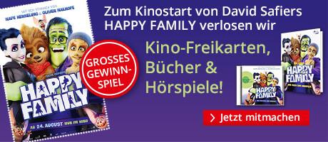 Jetzt zum Kinostart von Happy Family tolle Preise gewinnen!
