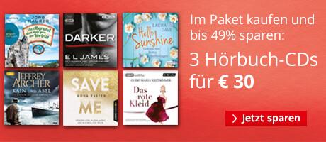 Sparen im Paket: 3 Hörbuch CDs für € 30