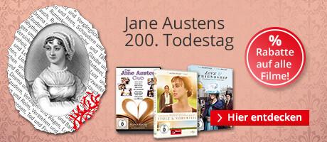 Jane Austen - eine Hommage an die Autorin mit reduzierten DVDs und Blu-rays