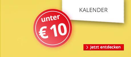Kalender unter € 10