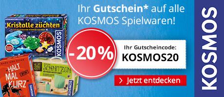 Ihr 20% Rabatt-Gutschein auf alle KOSMOS Spielwaren