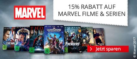 Ihr 15% MARVEL Gutschein auf ausgewählte Filme & Serien