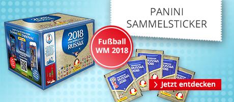 Panini - die offiziellen Sammkelsticker zur Weltmeisterschaft 2018 in Russland