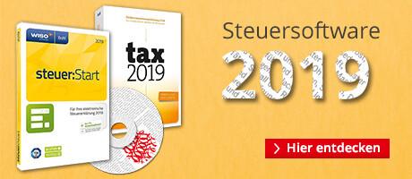 Steuersoftware 2019 - für Ihre Steuererklärung 2018