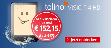 Sparen Sie 15% auf den tolino vision 4 HD