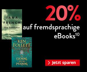 BLACK WEEK 2020 Gutschein: 20% auf fremdsprachige eBooks