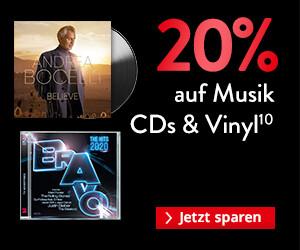 BLACK WEEK 2020 Gutschein: 20% auf Musik