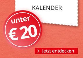 Kalender unter 20 EUR