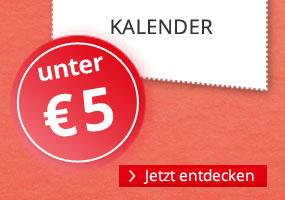 Kalender unter 5 EUR