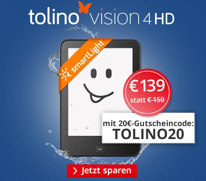 tolino vision 4 HD - Jetzt 20€ sparen!