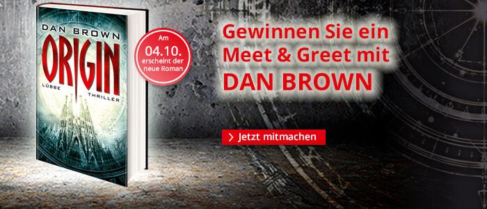 Gewinnen Sie ein Meet & Greet mit Dan Brown