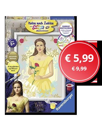 Angebot der Woche: Die Schöne und das Biest - Malen nach Zahlen: Belle