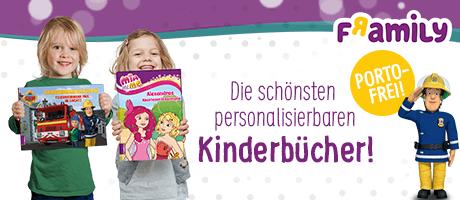 Framily - Personalisierte Kinderbücher und Kalender: Jetzt portofrei sichern