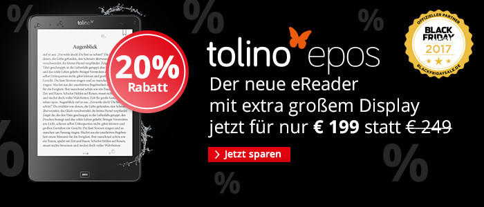 eReader tolino epos für nur € 199 statt € 249