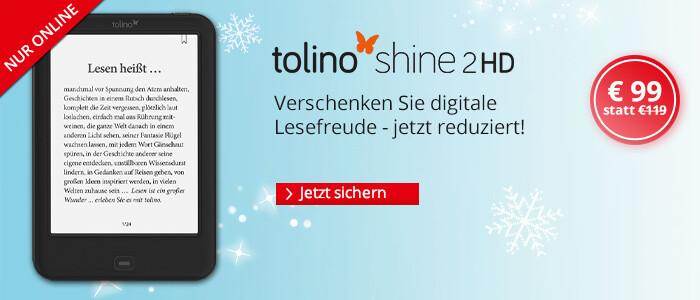 eReader tolino shine 2HD für nur 99 Euro