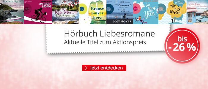 Hörbuch Liebesromane zum Aktionspreis bei Hugendubel