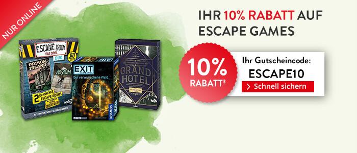 Sparen Sie 10% auf Escape Games