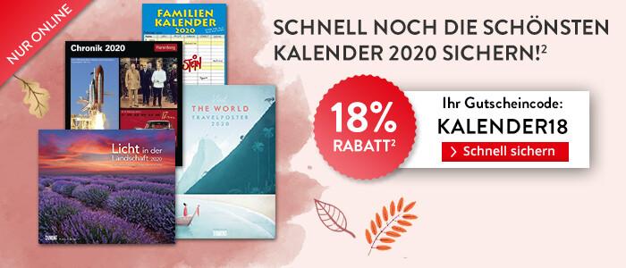 18% Rabatt: Schnell noch die schönsten Kalender 2020 sichern