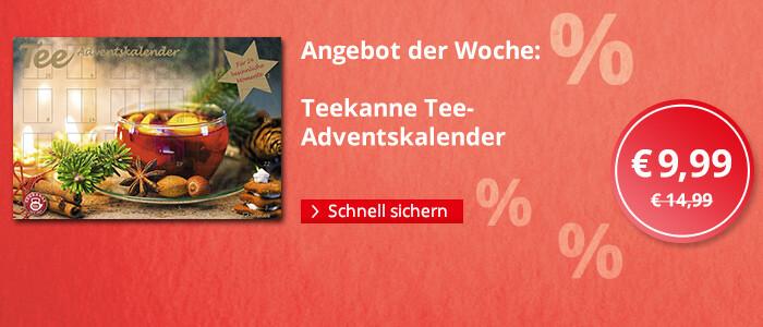Angebot der Woche: Teekanne Tee-Adventskalender