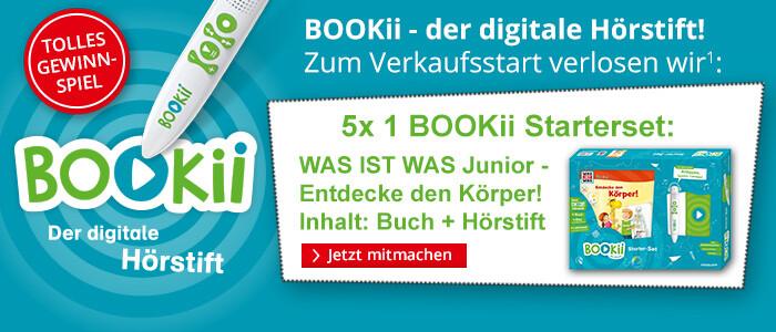Gewinnen Sie 1 von 5 BOOKii Startersets!