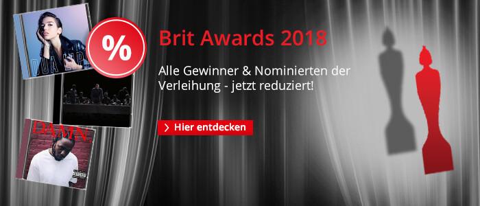 Brit Awards 2018 - Alle Gewinner und Nominierten jetzt reduziert!