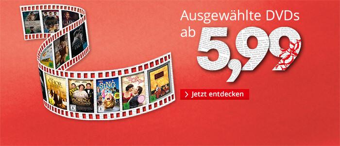 Ausgewählte DVDs ab 5,99 EUR