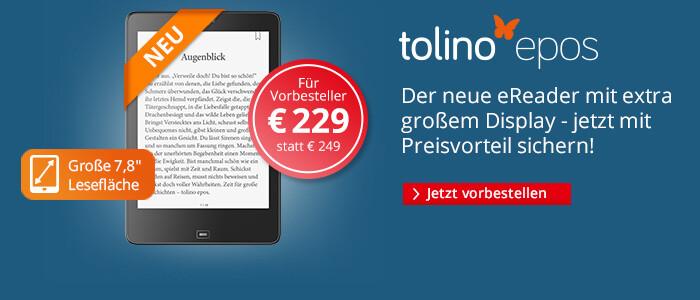 tolino epos - der neue eBook Reader im XL-Format
