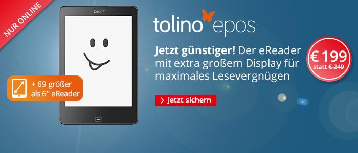 Der eReader tolino epos für nur 199 €
