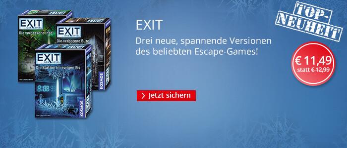 EXIT - Das Escape Game für zuhause mit 3 neuen Versionen