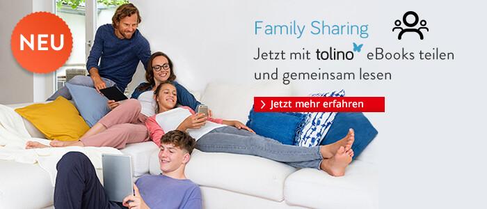 Family Sharing - Jetzt mit tolino eBooks teilen und gemeinsam lesen