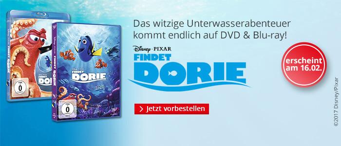 Findet Dorie - das Unterwasserabenteuer jetzt auf DVD & Blu-ray